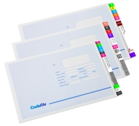 TrackNPrint labels on Codafile folder
